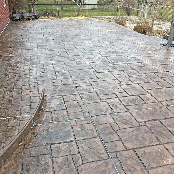after xylene treating stamped concrete sealer