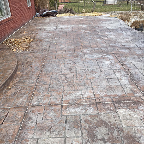 before xylene treating stamped concrete sealer