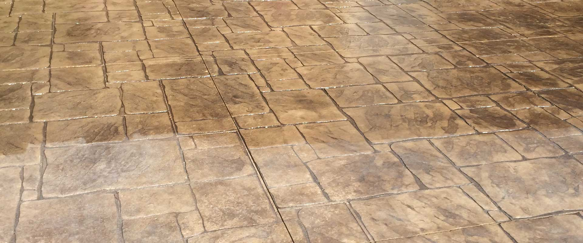sealed stamped concrete patio