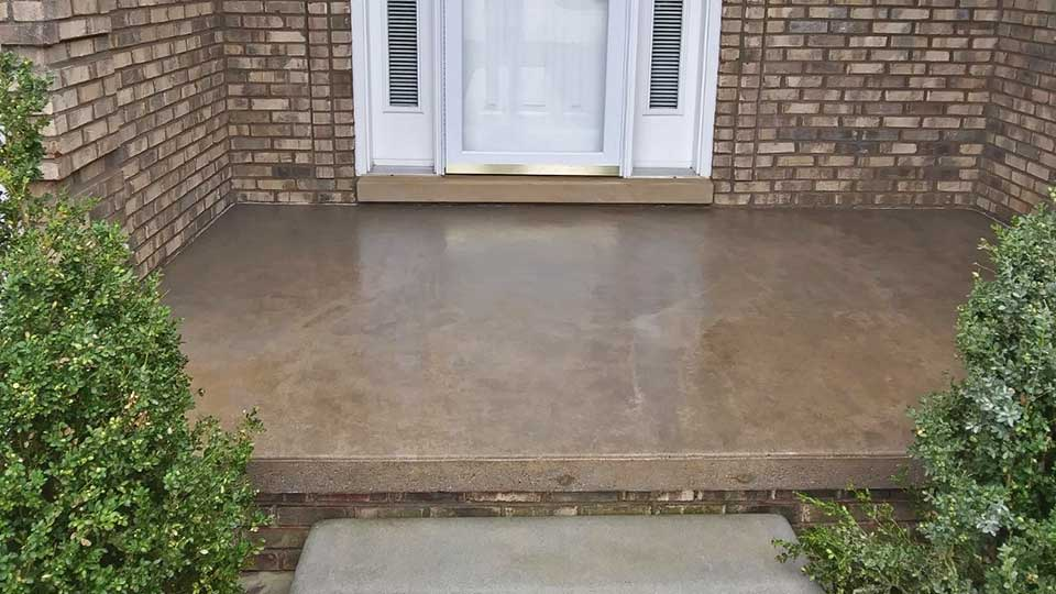 front porch after concrete sealer stripping in macomb and oakland county, MI