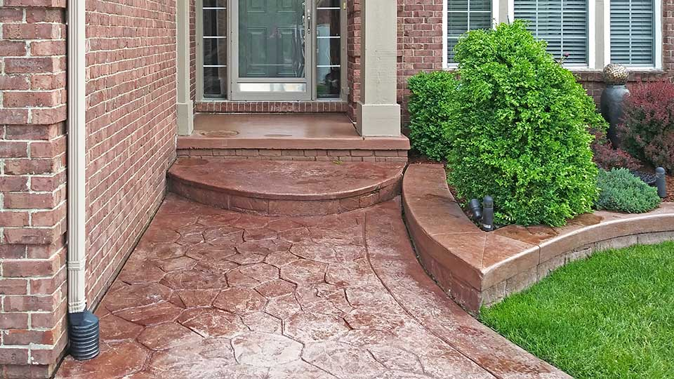 front walkway before concrete sealer stripping in macomb and oakland county, MI