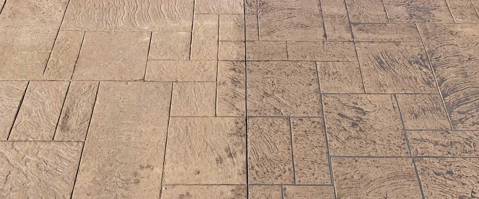 re-colored stamped concrete patio in oakland township